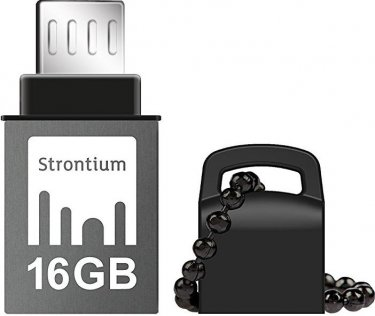 Флешка USB Strontium Nitro 16 ГБ (SR16GBBOTG2Z) срібляста