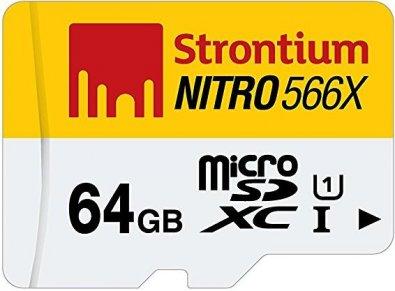 Карта пам'яті Strontium Nitro 566x Micro SDXC 64 ГБ (SRN64GTFU1R)