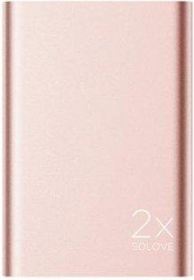 Батарея універсальна Solove A8s Power Bank 20000 mAh рожеве золото