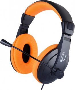Гарнітура Gemix W-300 Gaming чорна/оранжева
