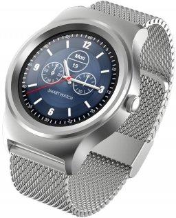 Смарт годинник SMA Round Metal сріблястий