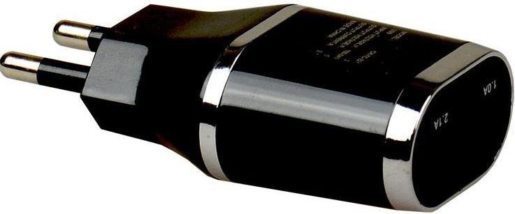 Мережевий зарядний пристрій GREENWAVE CH-TC-221 2xUSB 2.1A чорний