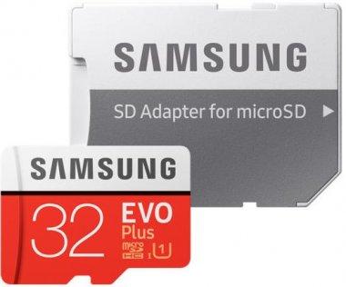 Карта пам'яті Samsung Evo Plus Micro SDHC 32GB (MB-MC32GA/RU)