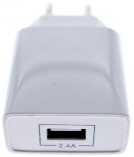 Зарядний пристрій JoyRoom L-M213 2xUSB 2.4A Lightning White (L-M213 EU White+Lightning)