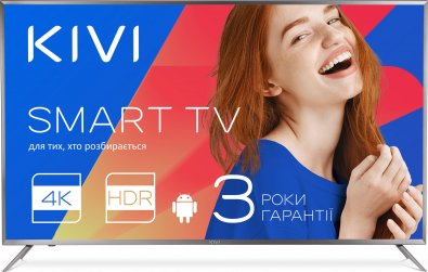 Телевізор LED Kivi 40UR50GU (Smart TV, Wi-Fi, 3840x2160) Gray