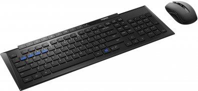 Комплект клавіатура+миша Rapoo 8200M Black