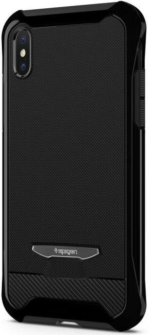 finest selection b0fae 280d0 Чохол Spigen for Apple iPhone X - Reventon Jet Black + 2 захисних скла