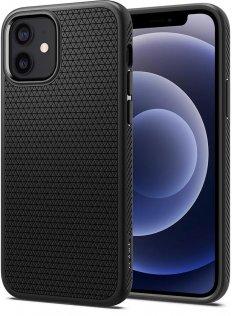 Чохол Spigen for iPhone 12/12 Pro - Liquid Air Matte Black (ACS01701)