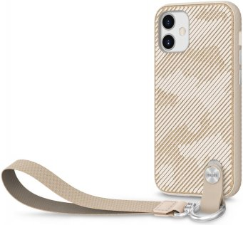 Чохол Moshi for Apple iPhone 12 mini - Altra Slim Case with Wrist Strap Sahara Beige (99MO117306)