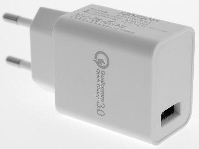 Мережевий зарядний пристрій JOYROOM, STC28, 1xUSB, QC3.0+Hass scheme, Білий