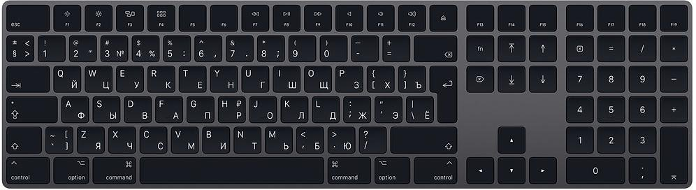 Клавіатура Apple Magic Keyboard with Numeric Keypad Space Gray (MRMH2)
