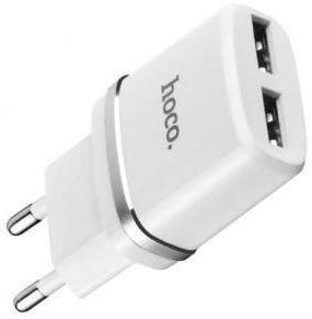 Зарядний пристрій Hoco C12 2xUSB White (C12 White)