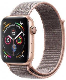 Смарт годинник Apple Watch Series 4 GPS 44mm Gold Aluminium with Pink Sand Sport Loop (MU6G2)