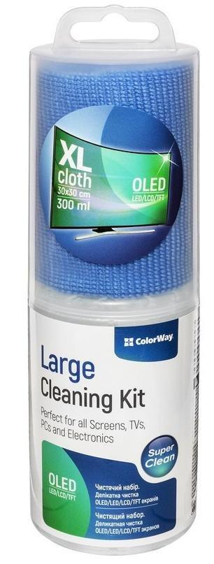 Набір ColorWay для очищення електроніки, моніторів (300мл+мікрофібра 30х30см) (CW-4130)