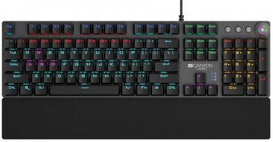 Клавіатура, Canyon Nightfall USB, Black/Grey ( Gaming )