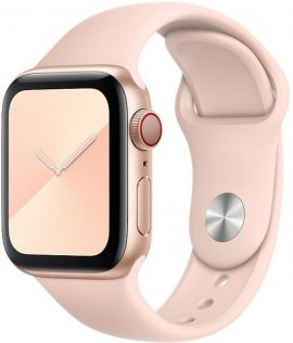 Ремінець HiC for Apple Watch 38mm - Silicone Case Light Pink