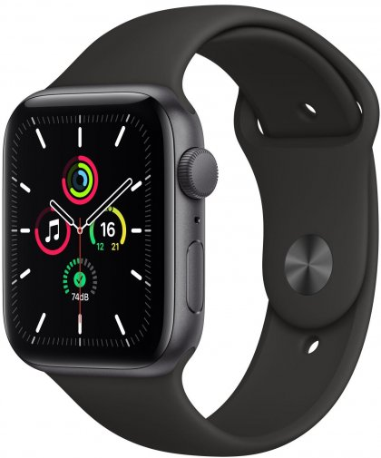 Смарт годинник Apple Watch Series SE GPS 44mm Space Grey Aluminium with Black Sport Band (MYDT2)