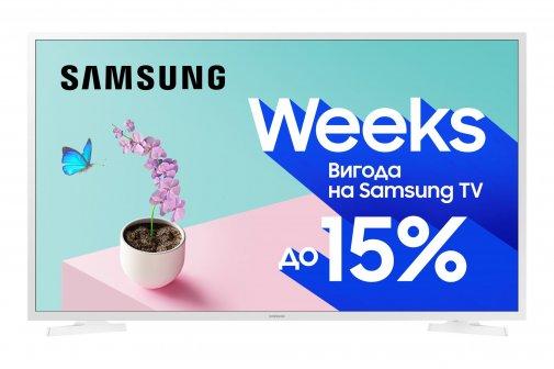 Телевізор LED Samsung UE32T4510AUXUA (Smart TV, Wi-Fi, 1366x768) White