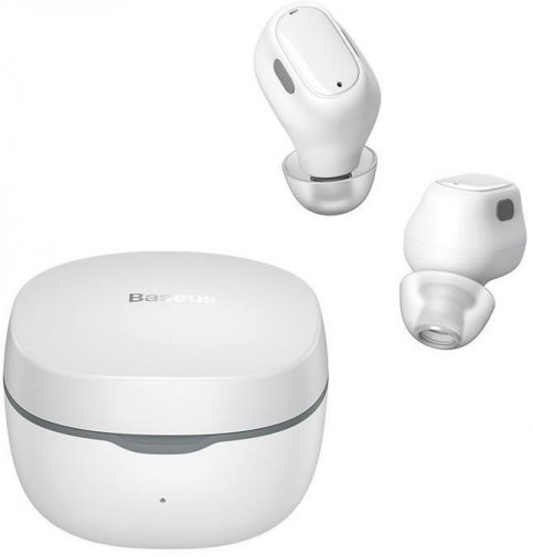 Гарнітура вакуумна Baseus Encok WM01 TWS Bluetooth, White