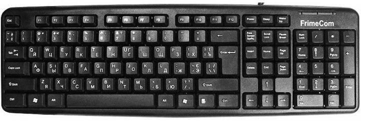 Клавіатура FRIMECOM FC-838 USB Black (FC-838-USB BLACK)