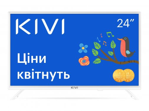 Телевізор LED Kivi 24H600KW (Smart TV, Wi-Fi, 1366x768) White