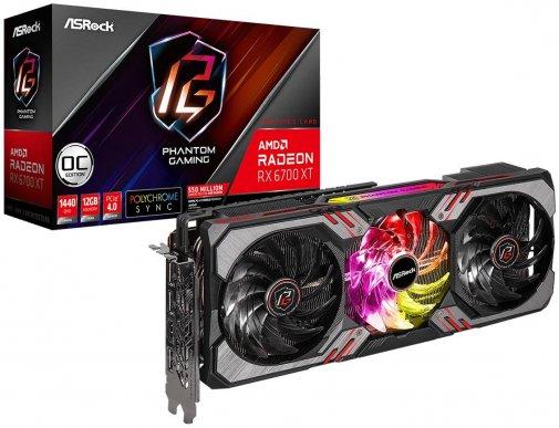Відеокарта AsRock RX 6700 XT Phantom Gaming D 12G OC (RX6700XT PGD 12GO)