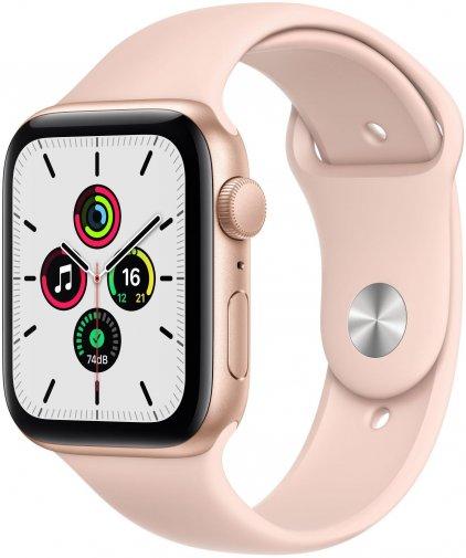 Смарт годинник Apple Watch Series SE GPS 44mm Gold Aluminium Case with Pink Sand Sport Band (MYDR2)