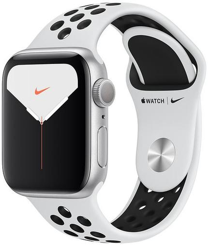 Смарт годинник Apple Watch Nike+ Series 5 GPS, 44mm Silver Aluminium Case with Pure Platinum/Black Nike Sport Band - S/M & M/L (MX3V2)