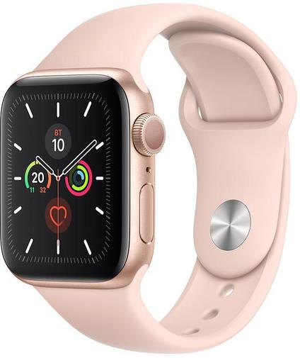 Смарт годинник Apple Watch Series 5 GPS 40mm Gold Aluminium with Pink Sand Sport Band