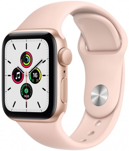 Смарт годинник Apple Watch Series SE GPS 40mm Gold Aluminium with Pink Sand Sport Band (MYDN2)