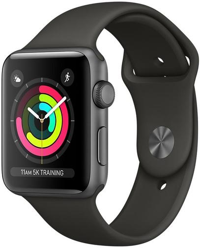 Смарт годинник Apple Watch Series 3 A1859 GPS 42mm Space Grey Aluminium with Grey Sport Band (MR362FS/A)