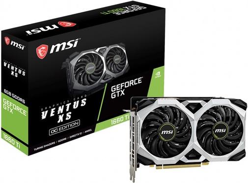 Відеокарта MSI GTX 1660 Ti Ventus XS OC (GTX 1660 Ti VENTUS XS 6G OC)