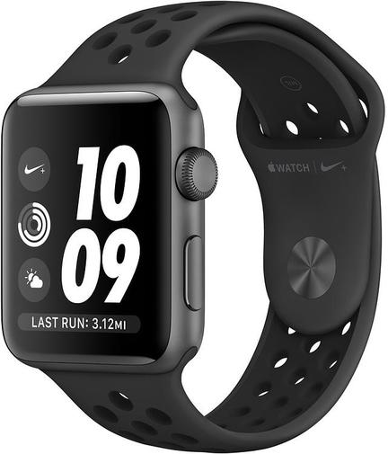 Смарт годинник Apple Watch Nike+ Series 3 GPS 42mm Space Grey Aluminium Case with Anthracite/Black Nike Sport Band (MTF42)