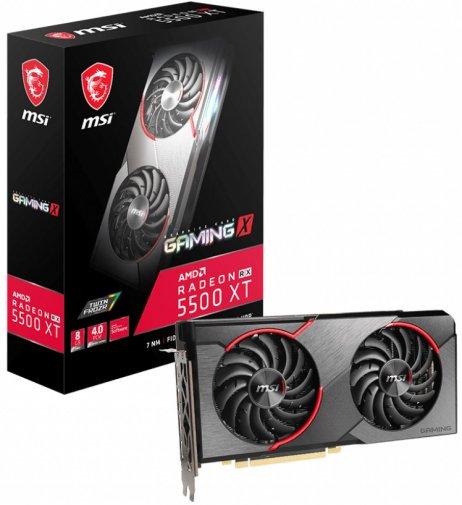 Відеокарта MSI RX 5500 XT Gaming X 8G (RX 5500 XT GAMING X 8G)