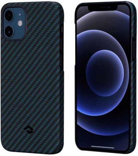 Чохол Pitaka for iPhone 12 / 12 Pro - MagEZ Case Black/Blue Twil (KI1208P)