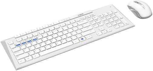 Комплект клавіатура+миша Rapoo 8200M White