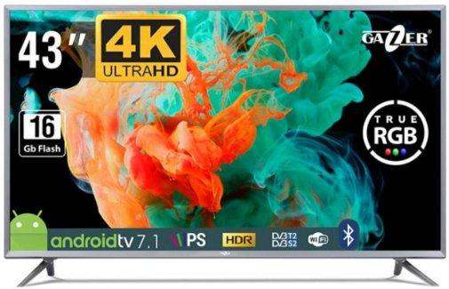 Телевізор LED Gazer TV43-US2G (Android TV, Wi-Fi, 3840×2160)