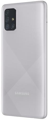 Смартфон Samsung Galaxy A71 A715 / 6/128GB SM-A715FMSUSEK Metallic Silver