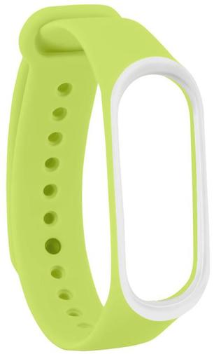 Ремінець Climber for Xiaomi Mi Band4 - Original Style Silicone DoubleColor Light Green/White (CBXM408 Light Green/White)