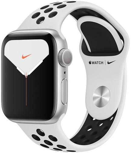 Смарт годинник Apple Watch Nike+ Series 5 GPS, 40mm Silver Aluminium Case with Pure Platinum/Black Nike Sport Band