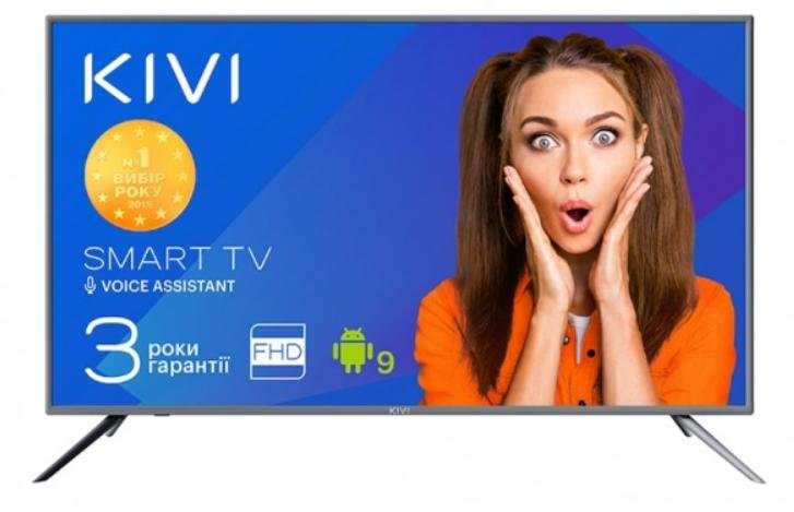 Телевізор LED Kivi 40F730GU (Android TV, Wi-Fi, 1920x1080)