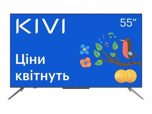 Телевізор LED Kivi 55U800BU (Android TV, Wi-Fi, 3840x2160)