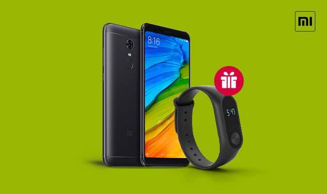 У подарунок фітнес браслет до смартфонів Xiaomi Redmi 5 Plus !